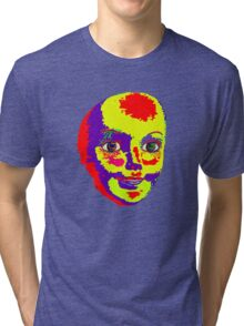 Psychedelic Mannequin Head Tri-blend T-Shirt