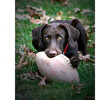 Let's Play Football!!! Photographic Print