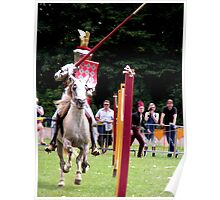 There they are the jousting knights! Poster