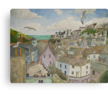 """A Crow's Nest View of Port Isaac, Cornwall"" Canvas Print"