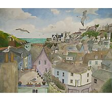 """A Crow's Nest View of Port Isaac, Cornwall"" Photographic Print"