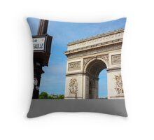 Place Charles De Gaulle - Arc De Triomphe Throw Pillow