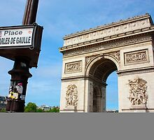 Place Charles De Gaulle - Arc De Triomphe by Benjamin Smith