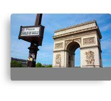 Place Charles De Gaulle - Arc De Triomphe Canvas Print