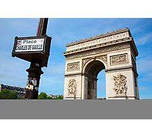 Place Charles De Gaulle - Arc De Triomphe Photographic Print
