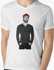 Chris Evans - Flowercrown Mens V-Neck T-Shirt