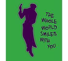 The Whole World Smiles - Joker Photographic Print