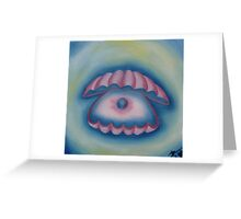 Shell with pearl. Greeting Card
