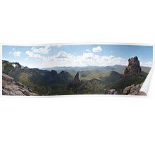 Warrumbungle Mountains from the Grand High Tops Poster