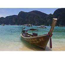 Taxi Boat - Ko Phi Phi Photographic Print