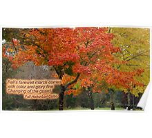 Autumn Haiku Poster