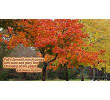Autumn Haiku Photographic Print