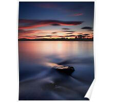 Sunset River Tay Poster