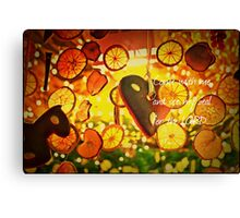 Come See My Zeal Canvas Print