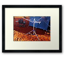 An itsy bitsy teeny weeny bitty witty clothesline in the desert Framed Print