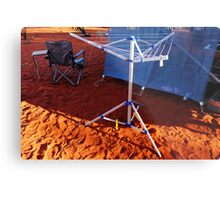 An itsy bitsy teeny weeny bitty witty clothesline in the desert Metal Print