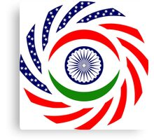 Indian American Multinational Patriot Flag Series Canvas Print