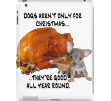 Dogs for christmas iPad Case/Skin