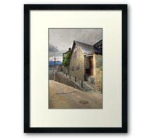 Lonely street in Canejan, Spain Framed Print