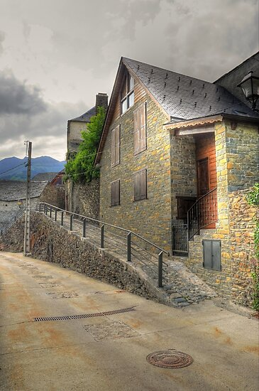 Lonely street in Canejan, Spain by Hans Kool