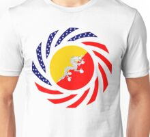 Bhutanese American Multinational Patriot Flag Series Unisex T-Shirt
