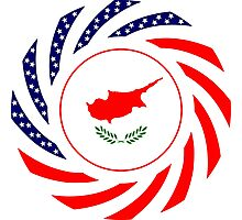 Cypriot American Multinational Patriot Flag Series Photographic Print
