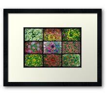 Floral Blurl Framed Print