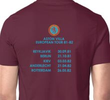 Aston Villa European Cup Tour 1982 Unisex T-Shirt