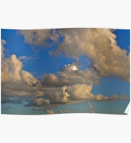 late afternoon clouds Poster
