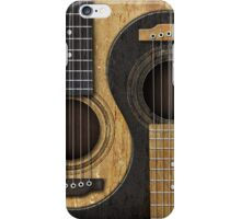 Old and Worn Acoustic Guitars Yin Yang iPhone Case/Skin