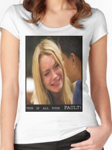this is all your fault! Women's Fitted Scoop T-Shirt