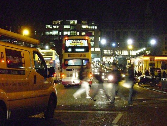 Night in the City (Edinburgh) by armadillozenith