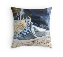 untitled shoes Throw Pillow