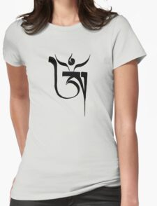 Om (black) Womens Fitted T-Shirt