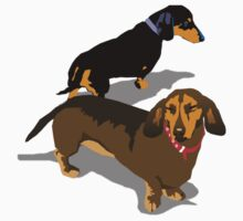 dachshunds by Bloomin'  Arty Gifts and Tees