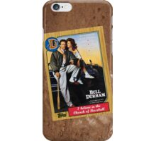 Bull Durham Movie Poster Card iPhone Case/Skin