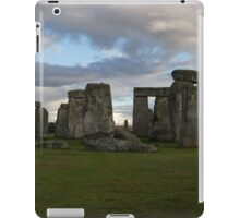 Stonehenge with a cloudy Sky iPad Case/Skin