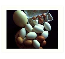 EGGS...................for Easter painting Art Print