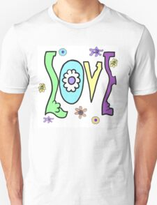 Psychedelic LOVE-Cooltones Unisex T-Shirt