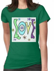 Psychedelic LOVE-Cooltones Womens Fitted T-Shirt