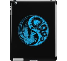 Blue and Black Dragon Phoenix Yin Yang iPad Case/Skin
