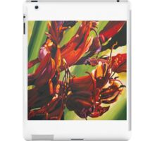 New Zealand  native flax flower painting. iPad Case/Skin