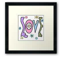 Psychedelic LOVE-Warmtones Framed Print