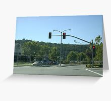 Red light, stop Greeting Card