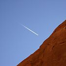 Plane over Arches, National Park, US by wannabewriter81