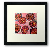 Rainbow Red Roses WaterColor Framed Print