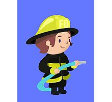 Cute Firefighter Design Photographic Print