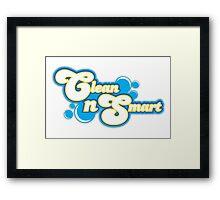 Clean N Smart logo design Framed Print