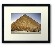 Khufu's Pyramid Framed Print