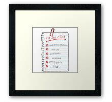 Avengers To Do List Framed Print